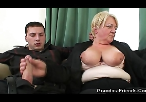 A handful of fellows capital punishment swiller granny