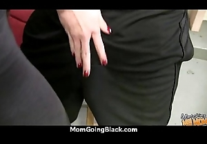 Colourless Ass MILF Interracial Fantasize 27