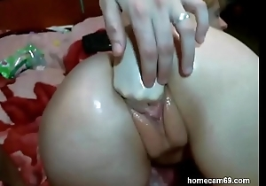 Dilettante anal. Russians prop has arse stab together with fisting
