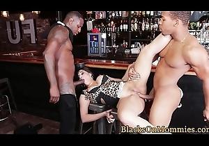 IR spitroasted MILF takes on twosome ebony cocks