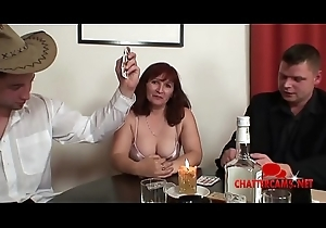 Mature Redhead Granny Triple Hardcore Strip Poker
