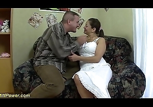 chubby Milf receives chunky bushwa anal drilled