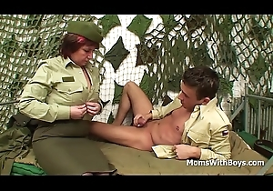 Perforated Pussy Foetus Officer Copulates A Soldier