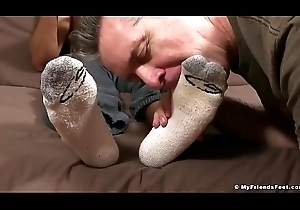 Sexy broad-shouldered Madison hooves worshiped increased by smelled by grandad