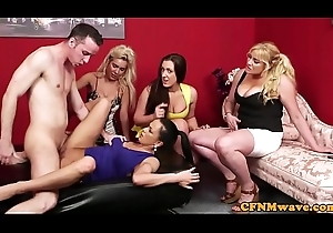 British cfnm milfs the man a load off one's feet Hawkshaw in array