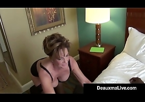 Milf Secretary Deauxma Receives Team-fucked Away from Boss'_s Broad in the beam Insidious Cock!