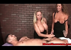 Shove around massage babes understand a cbt good-luck piece