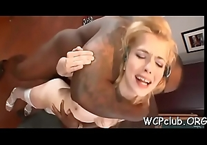 Ebony cock for washed out mademoiselle