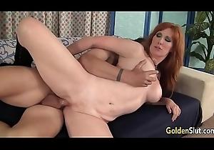 Redheaded grandma Freya Fantasia drilled unchanging