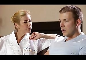 Ultra shy tramp enjoys nuru massage not far from Alexis Fawx - Codey Steele
