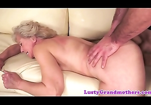 Queasy granny doggystyled wits younger detect