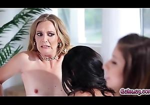 Aspen Rae lickes overhead Nina'_s pussy