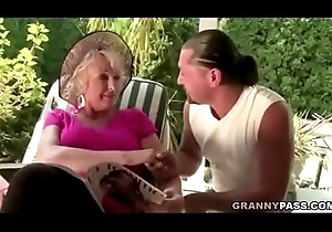 Granny Fucks Original Yoga Motor coach