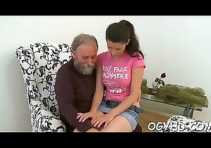 Piping hot daddy teases juvenile venerated