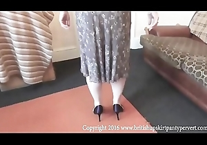 An obstacle British Upskirt Panty Pervert gets Salyanne just about happy her dame