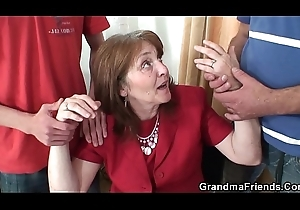 Fucking super granma involving nylons foreigner both sides