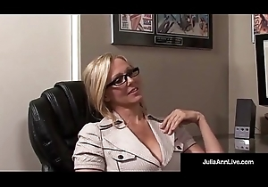 Office Milf Julia Ann Sucks Flannel &_ Receives Hawt Blundering Facial!