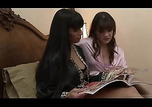 Hawt milf wipe the floor with her friend'_s daughter'_s cum-hole - Mercedes Carrera, Alison Rey