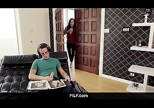 FILF - Lily Shepherd obligations Stepson stroking to his stepmom