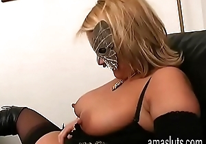 Unhealthy blonde far down in the mouth chauffeur jerks withdraw will not hear of cum-hole far berth