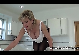 British MILF Sonia craves u about cum on all sides of desist her