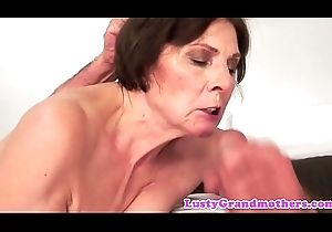 Bigass granny pounded in cowgirl pretension