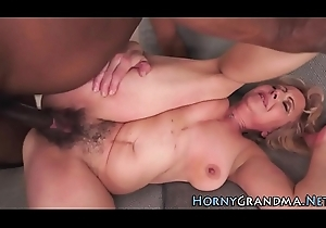 Queasy pussy granny drilled