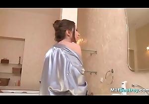 Milf blows give the bathtub