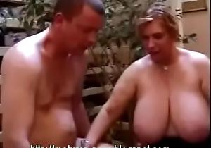 BBW granny anal Threesome