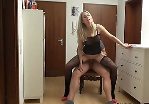 Unprofessional German MILF serves lover's exhaust close by POV