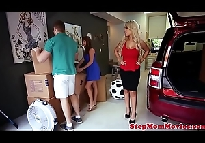 Glam stepmom pussylicked wide of doggystyled legal age teenager
