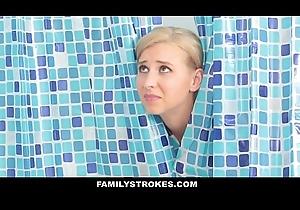 FamilyStrokes - Sexy Milf Sucks Off Step-Son