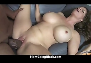 Cougar nearly Chubby Breast Seduces Young Black Tramp 12