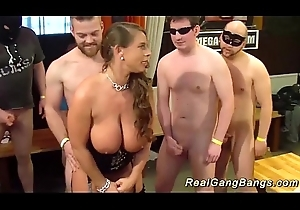 leader german milf gets wild group-fucked